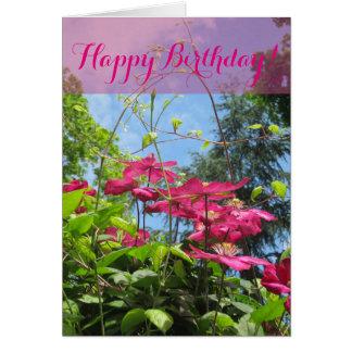 Alles- Gute zum GeburtstagBlumenkarte Karte