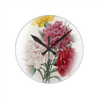 Alles- Gute zum Geburtstagblumenstrauß Runde Wanduhr
