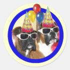 Alles- Gute zum Geburtstagboxeraufkleber Runder Aufkleber