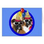 Alles- Gute zum Geburtstagboxergrußkarte Grußkarte