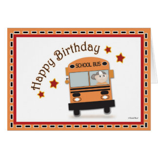 Alles- Gute zum GeburtstagBustreiber Karte