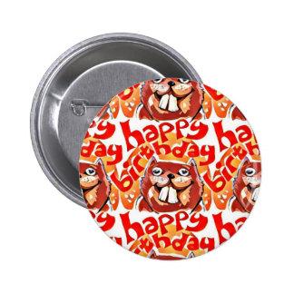 alles- Gute zum GeburtstagCartoonartillustration Runder Button 5,7 Cm