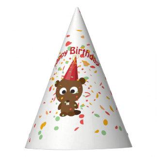 Alles Gute zum Geburtstagconfetti-Party-Biber Partyhütchen