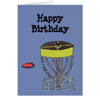 Alles- Gute zum GeburtstagDiscgolf-Grußkarte Karte