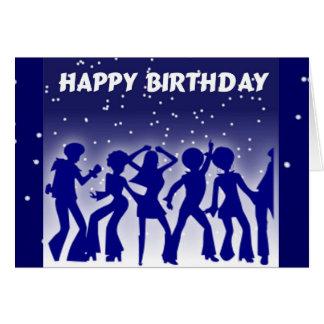 Alles- Gute zum Geburtstagdisco-Tänzer Karte