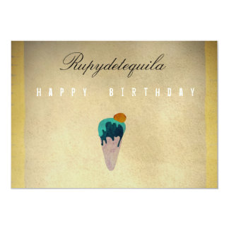 Alles- Gute zum GeburtstagEiscreme Einladung