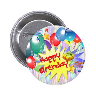 Alles Gute zum Geburtstagexplosion Runder Button 5,1 Cm