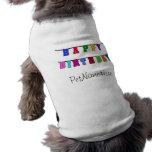 Alles- Gute zum Geburtstagfahne Haustierbekleidung