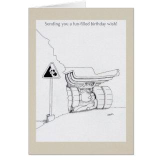 Alles Gute zum Geburtstagfernlastfahrer kardiert Karte