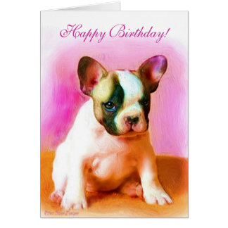 Alles- Gute zum Geburtstagfranzösische Karte