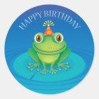 Alles- Gute zum Geburtstagfrosch-Aufkleber Runder Aufkleber