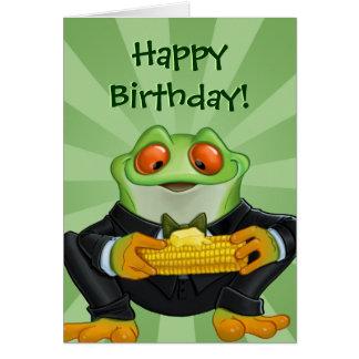 Alles Gute zum Geburtstagfrosch-Grußkarte
