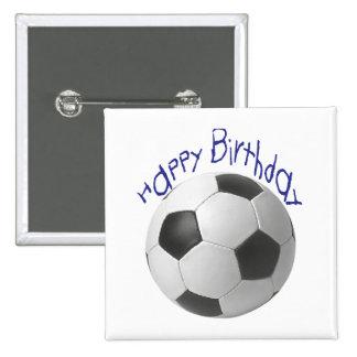 Alles- Gute zum Geburtstagfußball-Geschenke Quadratischer Button 5,1 Cm