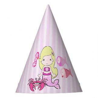 Alles- Gute zum Geburtstaggelber u. rosa Partyhütchen