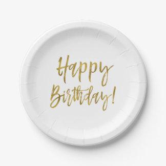 Alles- Gute zum Geburtstaggoldfolie Pappteller
