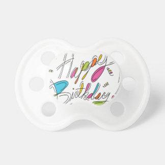 Alles- Gute zum Geburtstaghandschrifts-Kunst Schnuller
