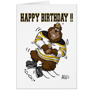 Alles- Gute zum GeburtstagHockey-Bärn-Karte Karte