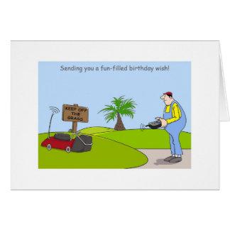 Alles- Gute zum Geburtstagim garten Karte