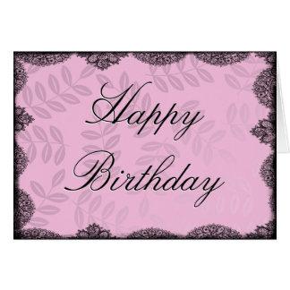 Alles- Gute zum Geburtstagkarte - rosa Vintage Spi Grußkarte