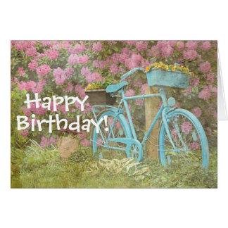 Alles- Gute zum Geburtstagkarten-altes Fahrrad Karte