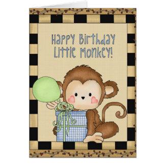 Alles- Gute zum Geburtstagkleine Affegrußkarte Karte