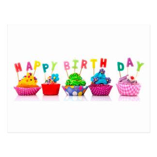 Alles- Gute zum Geburtstagkleine kuchen Postkarte