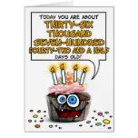 Alles- Gute zum Geburtstagkleiner kuchen - 100 Jah Karten