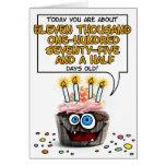 Alles- Gute zum Geburtstagkleiner kuchen - 30 Jahr Grußkarten