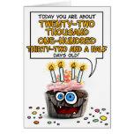 Alles- Gute zum Geburtstagkleiner kuchen - 60 Jahr Karten