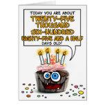 Alles- Gute zum Geburtstagkleiner kuchen - 70 Jahr Grußkarte