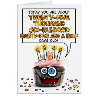 Alles- Gute zum Geburtstagkleiner kuchen - 70 Grußkarte