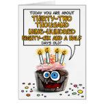 Alles- Gute zum Geburtstagkleiner kuchen - 90 Jahr Grußkarte