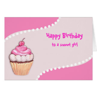Alles- Gute zum Geburtstagkuchen-Karten Karte