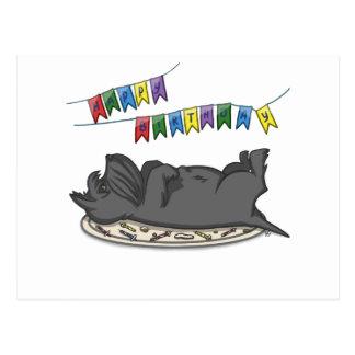 Alles- Gute zum Geburtstagkuchen Postkarte