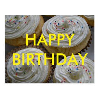 Alles- Gute zum Geburtstagkuchen-Postkarte Postkarte