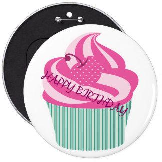 Alles- Gute zum Geburtstagkuchen Runder Button 15,3 Cm
