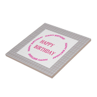 Alles Gute zum Geburtstagkunst auf Kleine Quadratische Fliese