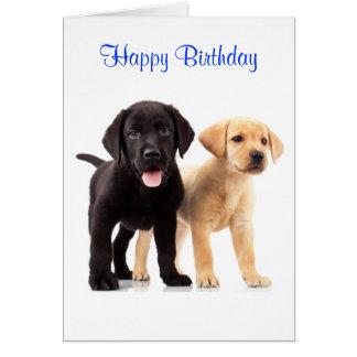 Alles- Gute zum Geburtstaglabrador Karte