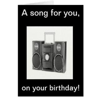 Alles Gute zum Geburtstaglied Karte