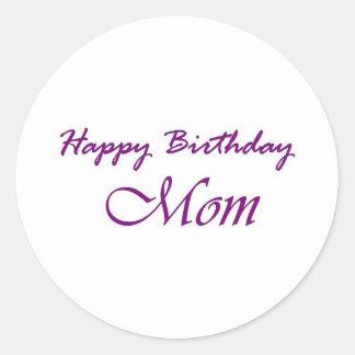Alles- Gute zum Geburtstagmamma Runde Aufkleber