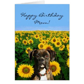 Alles- Gute zum Geburtstagmamma-Boxergrußkarte Grußkarte