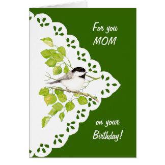 Alles- Gute zum Geburtstagmamma-Chickadee, Vogel Grußkarte