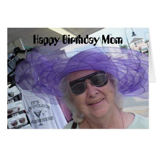 Alles- Gute zum Geburtstagmamma, Dame im lila Hut Karten