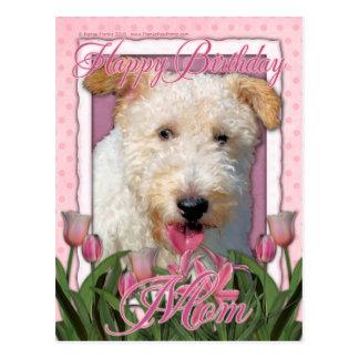 Alles- Gute zum Geburtstagmamma - Draht-Foxterrier Postkarte