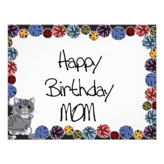 Alles- Gute zum Geburtstagmamma Ankündigungskarte