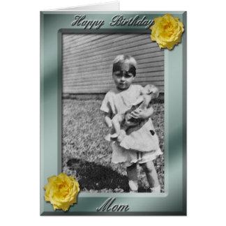 Alles- Gute zum Geburtstagmamma-Foto-Kartenschablo Grußkarte