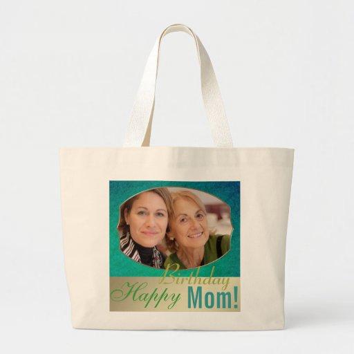 Alles Gute zum Geburtstagmamma-Fotorahmen-Schablon Tasche