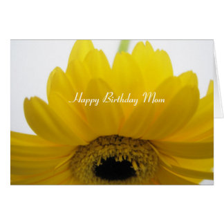 Alles- Gute zum Geburtstagmamma-Gelb-Gänseblümchen Grußkarte