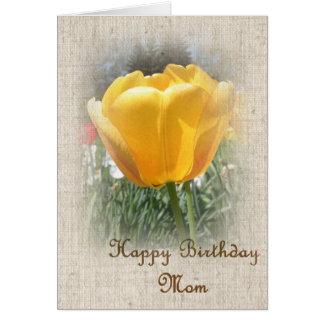 Alles- Gute zum Geburtstagmamma - gelbe Tulpe Karten