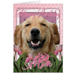Alles- Gute zum Geburtstagmamma - golden retriever Grußkarte